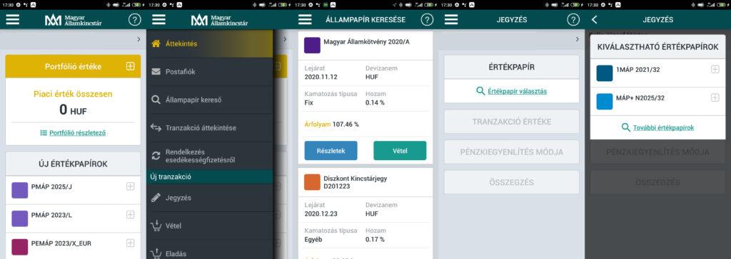Mobilkincstár app