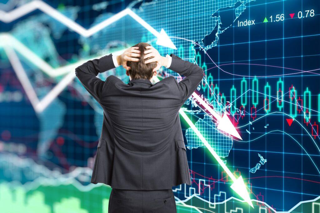 részvény esés