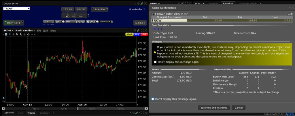 Részvényvásárlás az Interactive Brokers felületén